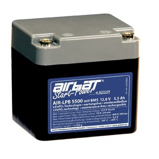 AIRBATT Starting Power LPB 5500 13.2 V 5.5 Ah LiFePO4 Starter Battery