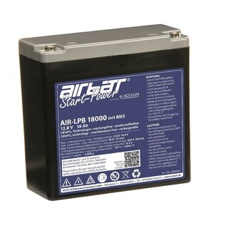 AIRBATT starting power LPB 18000 13.2 V 18 Ah LiFePO4 starter battery