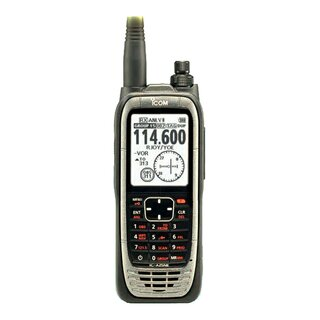 ICOM IC-A25NE VHF handheld radio (NAV & COM channels) with GPS receiver and Bluetooth
